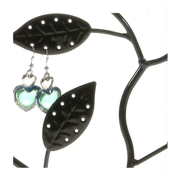 Porte bijoux arbre à boucle d'oreille piou piou (60 paires) Noir - Photo n°4