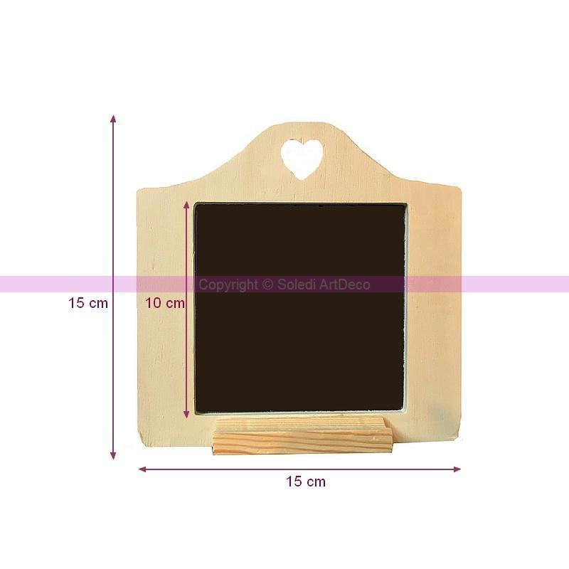 Ardoise d corative en bois avec perforation coeur et porte for Ardoise pour cuisine