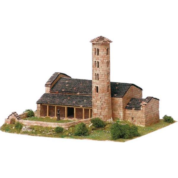 Eglise Santa Coloma (Andorre) - Ech 1/150 - 3400 pcs - 35 x 28 x 24 cm - Dif 7/10 Aedes - Photo n°1