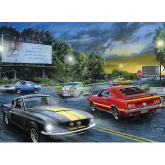 Ford Mustang dans la nuit Puzzle 1000 pièces