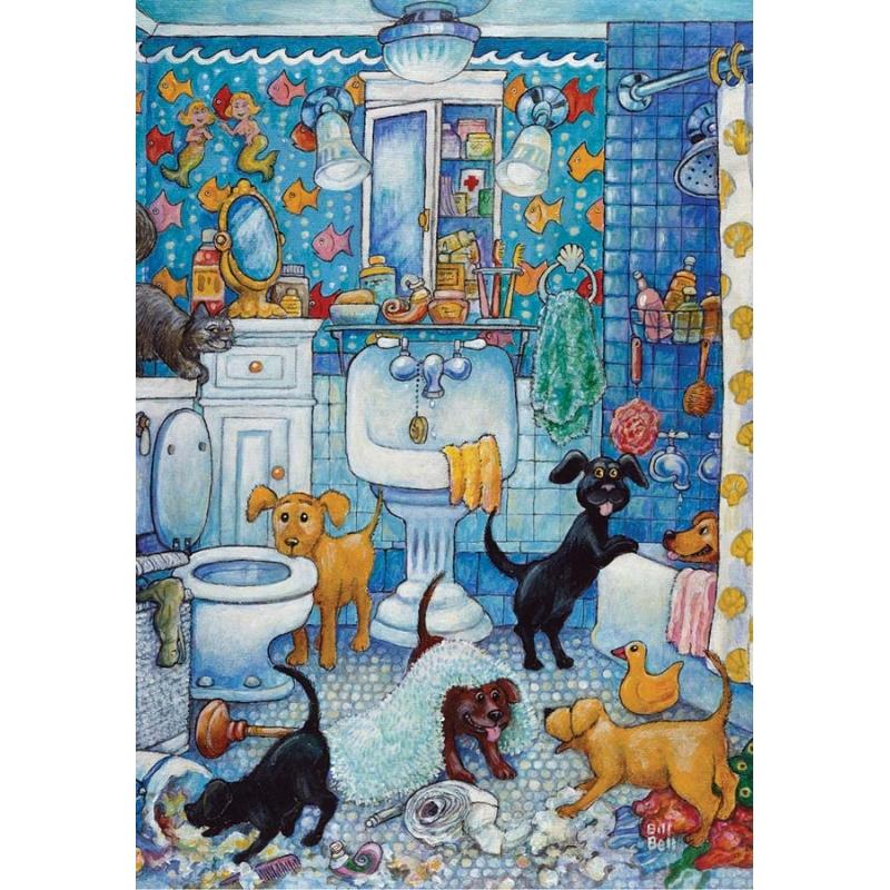 les chiots dans la salle de bain puzzle 260 pi ces
