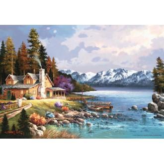 Chalet de montagne Puzzle 500 pièces