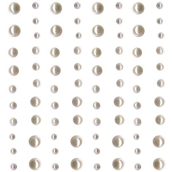 Strass à coller mini perles Blanc x 80 - Photo n°1