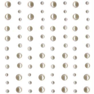 Strass à coller mini perles Blanc x 80