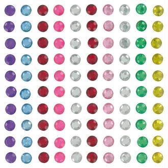Strass à coller rond multicolore 0,5 cm x 100