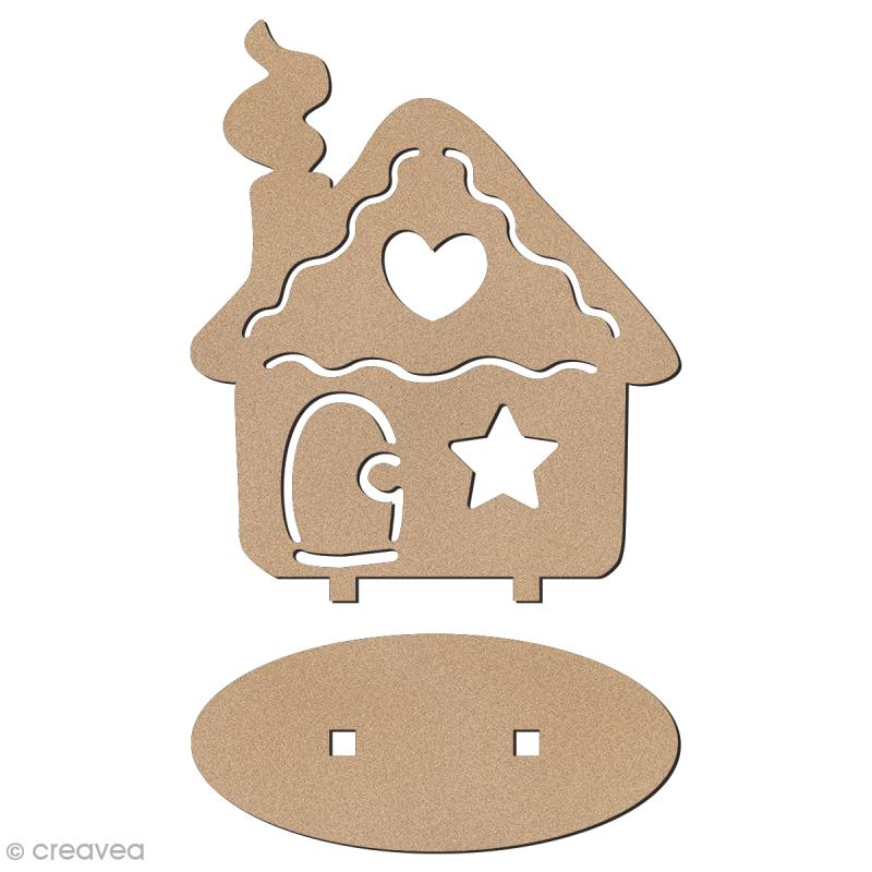 D co 3d sur socle monter maison de pain d 39 pices 7 cm photo - Deco fenetre noel maison ...