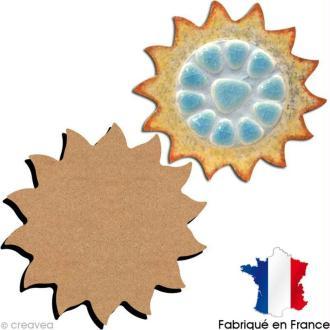 Dessous de verre soleil 10 cm en bois