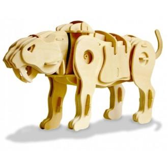 Tigre à dents de sabre Puzzle 3D en bois - Radio Commandé