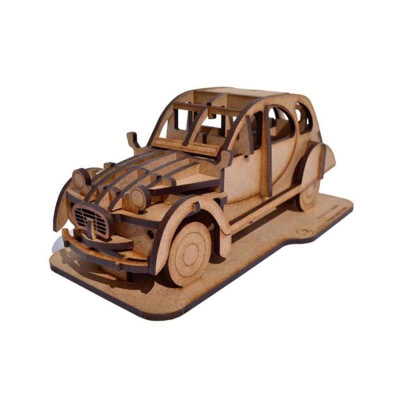 2cv citro n kit en bois d coupe laser kit maquettes bois et cartons creavea. Black Bedroom Furniture Sets. Home Design Ideas