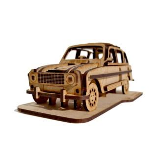 Renault 4L  - Kit en bois - Découpe laser