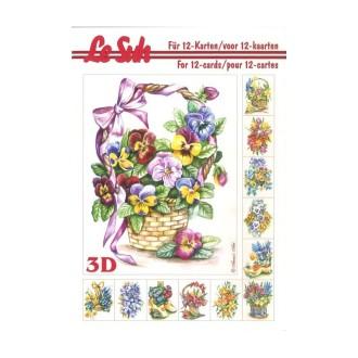 Carterie 3D Livret A5 12 feuilles Bouquet de Fleurs