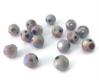 10 Perles En Cristal Dépoli  Multicolore 8mm