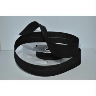 Biais Uni Rouleau De 20 Mètres Coloris Noir  2Cm / 20Mm Fillawant De Dmc