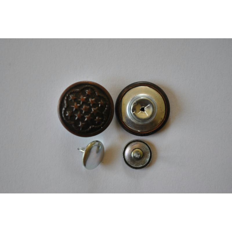 Bouton pour jean 17mm vendu par 2 boutons jeans creavea for Bouton de sonnette exterieur legrand