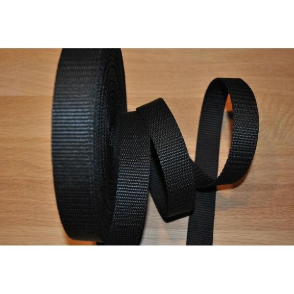 96d7b70285 Sangle Polypropylène Noir 20Mm Vendu Par 2Mètres - Sangles de sac à ...