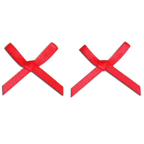 Noeud en satin 2,5 cm Rouge x 10 - Photo n°1