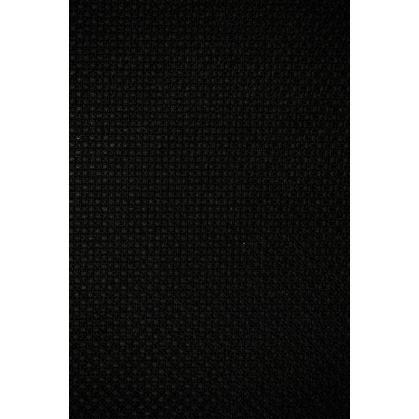 Toile Aïda 5.5 / Cm 80 X 50 Cm Noir 59 Luc - Photo n°2