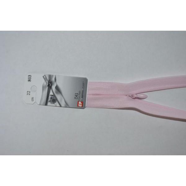 Fermeture Éclair Invisible 22 Cm Non Séparable Z41 Rose Pâle 803 - Photo n°1
