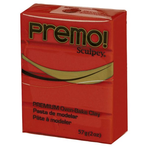 Pâte Sculpey Premo Rouge grenade - 57g - Photo n°1