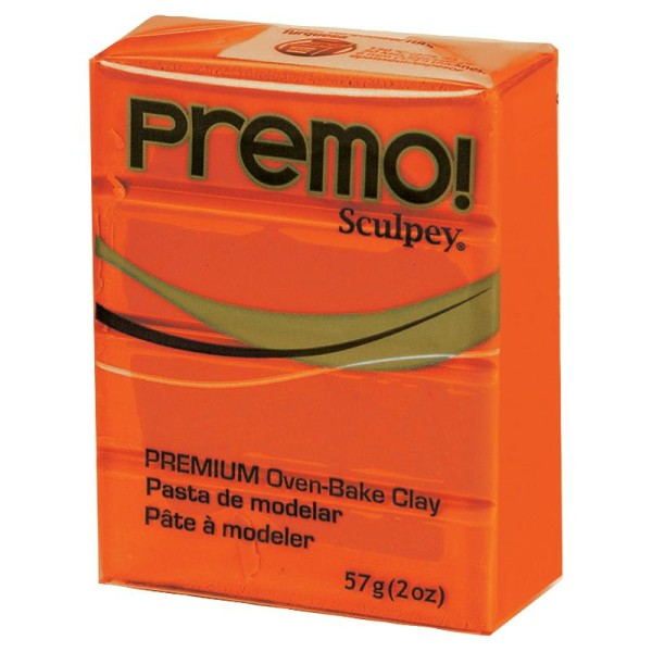 Pâte Sculpey Premo Orange - 57g - Photo n°1