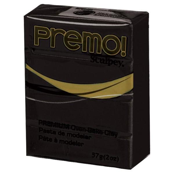 Pâte Sculpey Premo Noir - 57g - Photo n°1