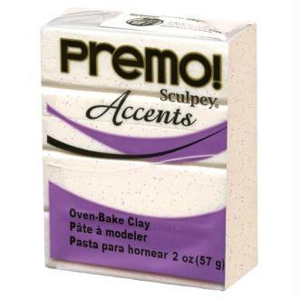 Pâte Sculpey Premo Accent Blanc gelé - 57g