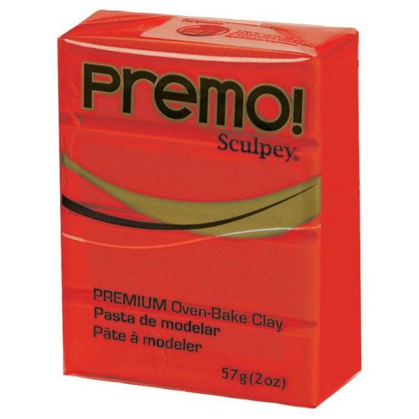 Pâte Sculpey Premo Rouge primaire - 57g - Photo n°1