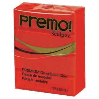 Pâte Sculpey Premo Rouge primaire - 57g