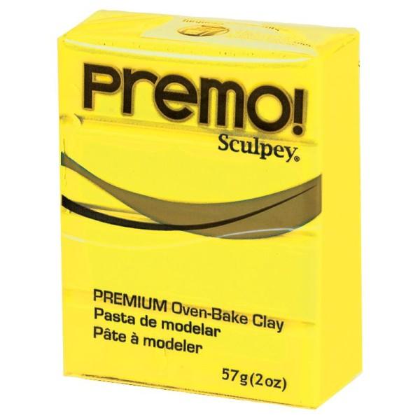Pâte Sculpey Premo Jaune soleil - 57g - Photo n°1