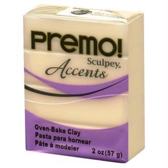 Pâte Sculpey Premo Accent Blanc tranlucide - 57g