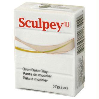 Pâte Sculpey III Blanc - 57g