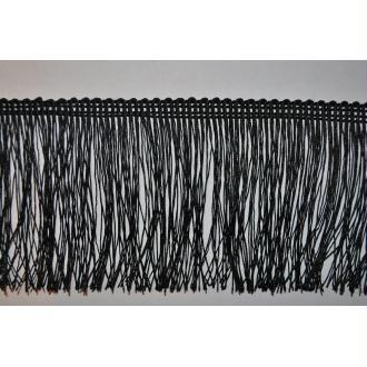 Ruban À Franges / Galon À Franges Noir 7,5 Cm De Haut Par 25 Mètres 4907.70.80