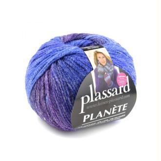 Pelote De Laine Plassard Planète Coloris Dégradé Violet Bleu 117