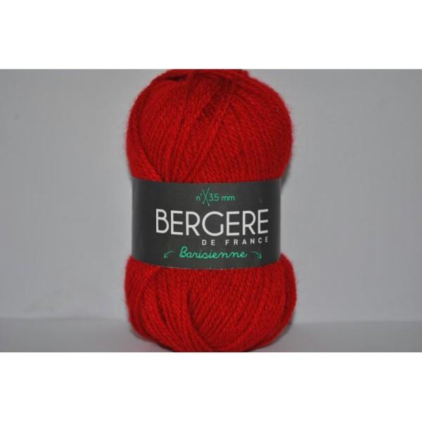 Pelote De Laine Barisienne Bergère De France Coloris Géranium Rouge Vif 223.061 22306 - Photo n°1