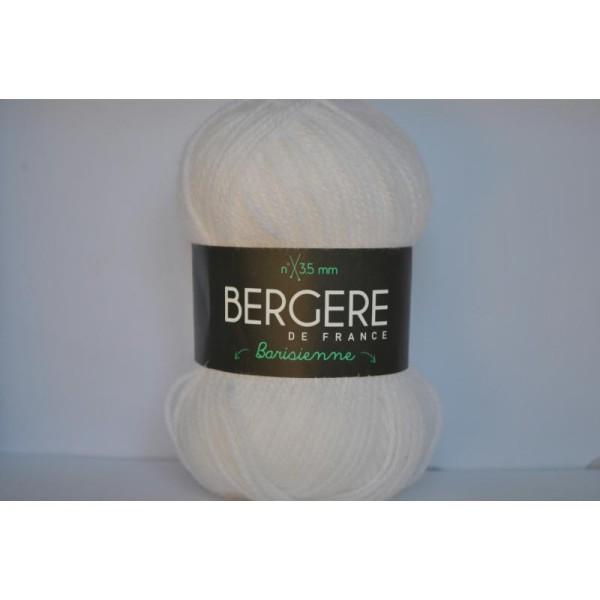 Pack De 10 Pelotes De Laine Barisienne Bergère De France Coloris Igloo Blanc 221.051 22105 - Photo n°1