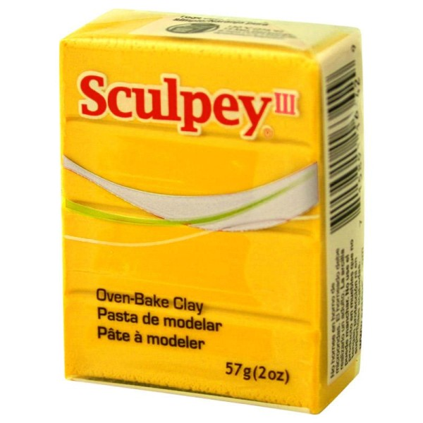 Pâte Sculpey III Jaune - 57g - Photo n°1