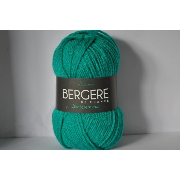 Pack De 10 Pelotes De Laine Barisienne Bergère De France Coloris Papeete Vert  Lagon 249.531 24953 - Photo n°1
