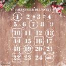 Pochoir multiusage A4 - Chiffres calendrier de l'avent - Photo n°2