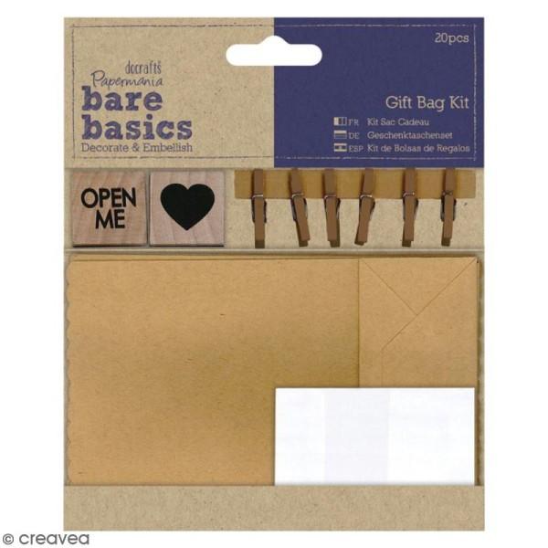 Kit sac cadeau - Bare Basics - 20 pcs - Photo n°1