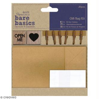 Kit sac cadeau - Bare Basics - 20 pcs