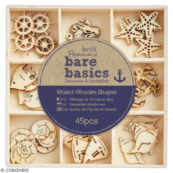 Formes en bois Bare Basics - Nautique - 2 cm - 45 pcs - Photo n°1