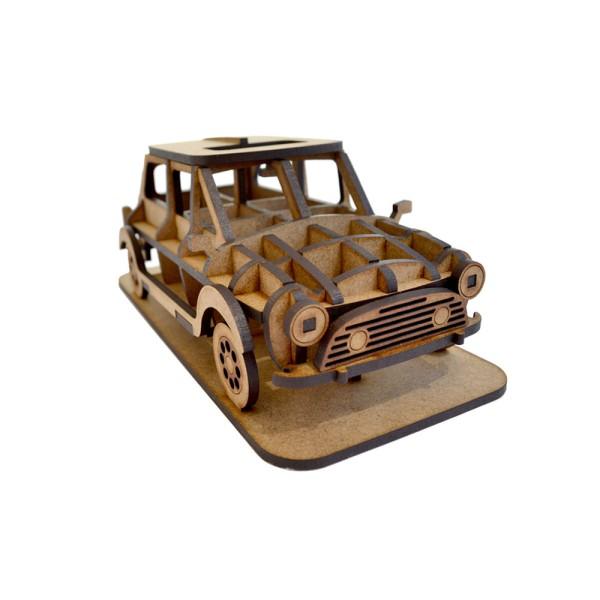 Mini Kit en bois à assembler - 16 x 8 x 6,5 cm - 33 pièces Suricata - Photo n°1