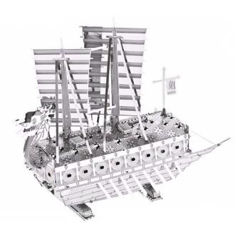 Bateau Tortue Taille XL -Kit métal pré-découpé au laser, à assembler sans colle