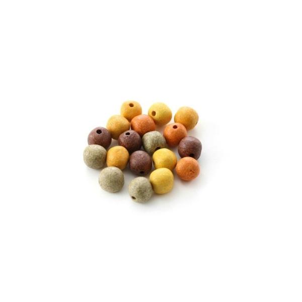 Perles céramique 8 mm camaïeu terre mat x10 - Photo n°1