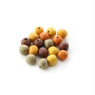 Perles céramique 8 mm camaïeu terre mat x10