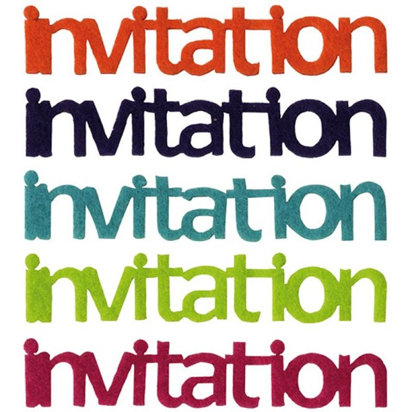 Lettres Invitation en feutrine Fun x5 - Photo n°1