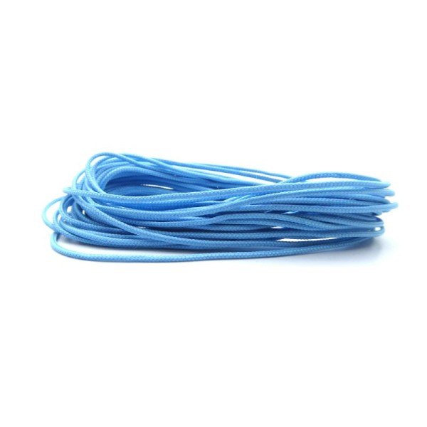 Cordon polyester pour shamballa 1mm bleu clair - Europe - 5 mètres - Photo n°1