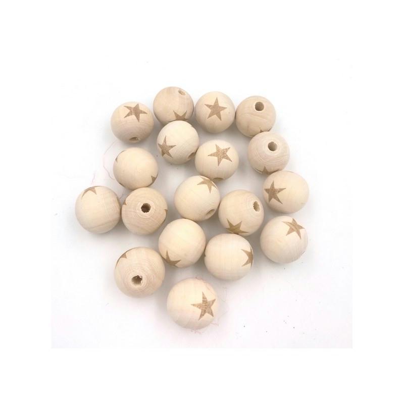 perles en bois naturel toile 20mm perles bois creavea. Black Bedroom Furniture Sets. Home Design Ideas