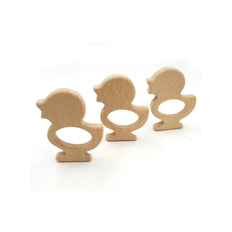 anneau de dentition canard perles bois creavea. Black Bedroom Furniture Sets. Home Design Ideas