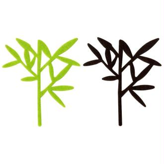 Bambou en feutrine vert et marron Voyage x4